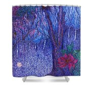 Forest Flower Shower Curtain