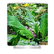 Forest Foliage Shower Curtain