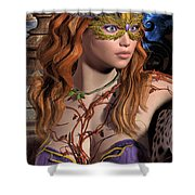 Forest Girl Shower Curtain