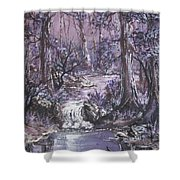 Forest In Lavender Shower Curtain