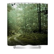 Forest In The Mist Shower Curtain