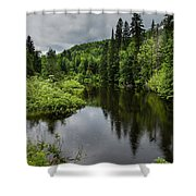 Forest Lake - Quebec - Canada Shower Curtain