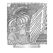 Forest Light Beams Shower Curtain