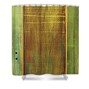 Forest Painted Door Shower Curtain