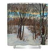Forest Proteins Shower Curtain