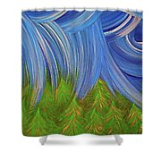 Forest Rain By Jrr Shower Curtain