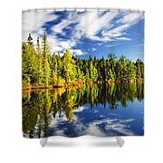 Forest Reflecting In Lake Shower Curtain