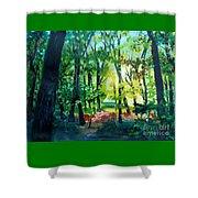 Forest Scene 1 Shower Curtain