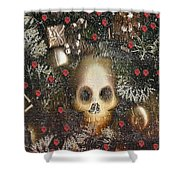 Forest Skull Pop Art Shower Curtain