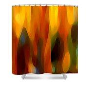 Forest Sunlight Horizontal Shower Curtain