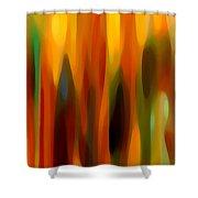 Forest Sunlight Vertical Shower Curtain