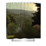 Forested Hills Shower Curtain