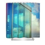 Forever Blue Shower Curtain