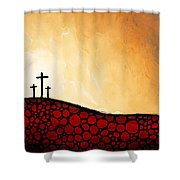 Forgiven - Christian Art By Sharon Cummings Shower Curtain
