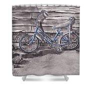 Forgotten Banana Seat Bike Shower Curtain