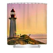 Forgotten Lighthouse Shower Curtain by Eti Reid