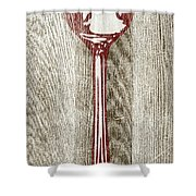 Fork And Spoon On Wood II Shower Curtain