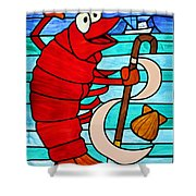 Formal Lobster Shower Curtain