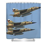 Formation Of Royal Moroccan Air Force Shower Curtain