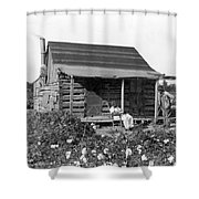 Former Slaves At Their Cabin Shower Curtain