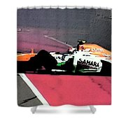Formula 1 Grand Prix Crash Shower Curtain