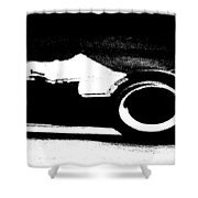 Formula 1 Racer In Action Shower Curtain