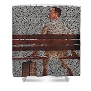 Forrest Gump Quotes Mosaic Shower Curtain