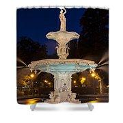Forsyth Park Fountain Savannah Georgia Shower Curtain