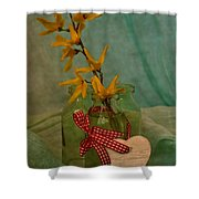 Forsythia Yellow Bells Shower Curtain