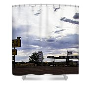 Fort Courage Trading Post Shower Curtain