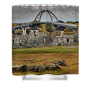 Fort Crown Point Panorama Shower Curtain