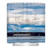 Fort Gorges Shower Curtain