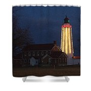 Fort Gratiot Lighthouse And Buildings Shower Curtain
