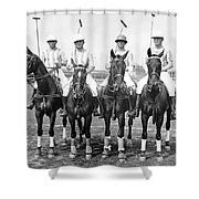 Fort Hamilton Polo Team Shower Curtain
