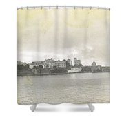 Fort In Sky Line Of San Juan Puerto Rico Shower Curtain