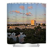 Fort Lauderdale Scene Shower Curtain