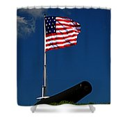 Fort Mchenry Flag And Cannon Shower Curtain