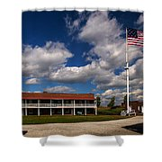 Fort Mchenry Parade Ground Barracks Shower Curtain