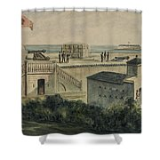 Fort Moultrie Circa 1861 Shower Curtain
