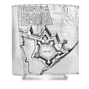 Fort Pitt, 1761 Shower Curtain