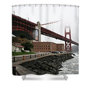 Fort Point And Golden Gate Shower Curtain