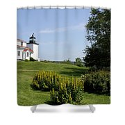 Fort Point Light Maine Shower Curtain