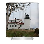 Fort Point Lighthouse 9239 Shower Curtain
