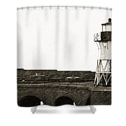 Fort Point Lighthouse Shower Curtain