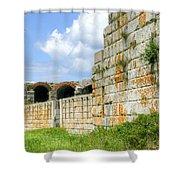 Fort Popham In Phippsburg Maine Shower Curtain