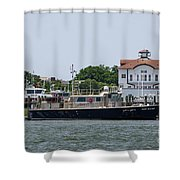 Fort Sumter Pilot Boat Shower Curtain