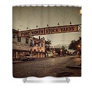 Fort Worth Stockyards Shower Curtain