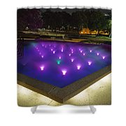 Fort Worth Water Garden Aerated Pool Shower Curtain
