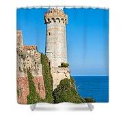 Forte Stella Lighthouse - Portoferraio - Elba Island Shower Curtain