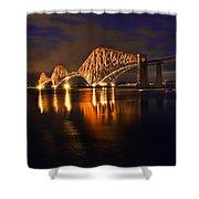 Forth Rail Bridge At Sunset Shower Curtain